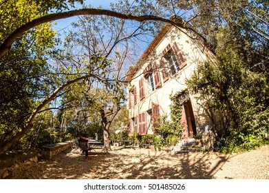 The Cezanne´s house and atelier in Aix-en-Provence with the front garden