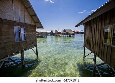 House of Bajo Tribe in Wakatobi, Sulawesi, Indonesia