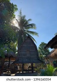 house or bale at sade village, lombok