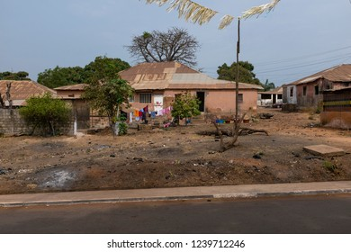 House in the Bandim neighbourhood in the city of Bissau, Guinea-Bissau. Guinea Bissau is one of the poorest countries in the world.
