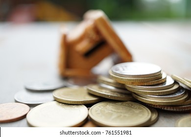 The house is bankrupt because of no money (Thai coins) macro
