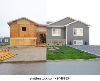 House before and after , during the build and after