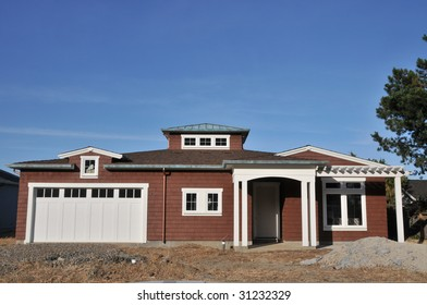House being built, no yard