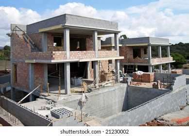House being built in Spain