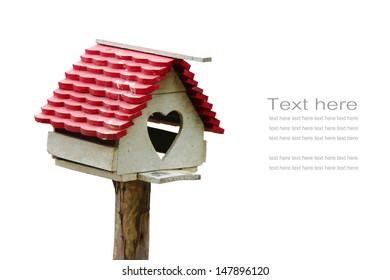 house of bird, isolate on white background