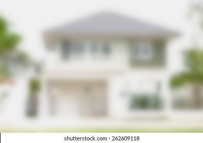 house blur background