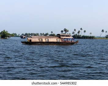 House boat in the Kerala backwaters of India