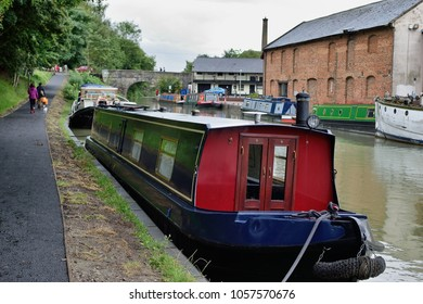 House boat on a canal in England.