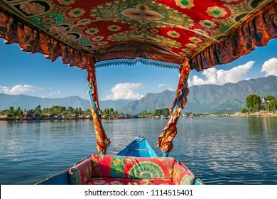 House boats on the dal lake in Srinagar (Kashmir, India)