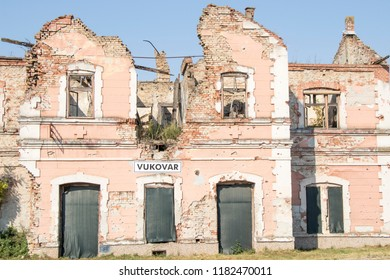House bombarded  during the battle in Croatian hero city of Vukovar