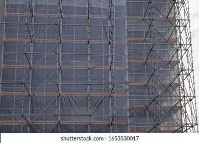 house building construction site detail
