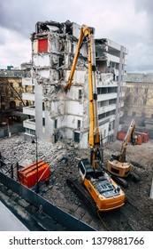House/ building demolition