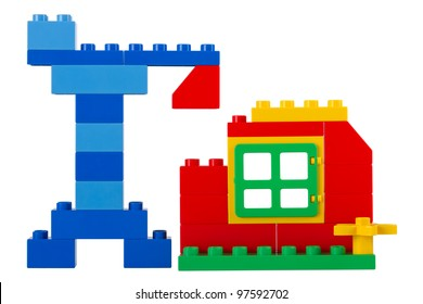 House building on a white background. Children's Designer