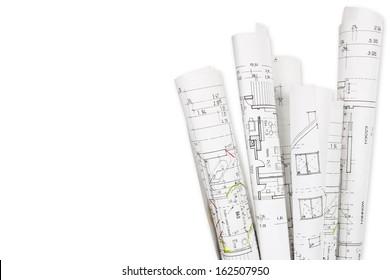 House building, building plans