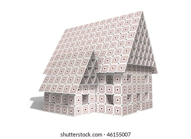 House built with paperboards