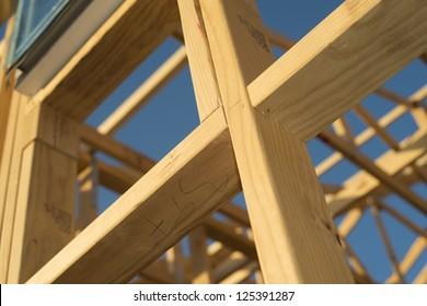 House buliding wooden frame work