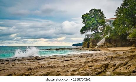 House by the sea on Contadora island, archipelago Las Perlas, Panama