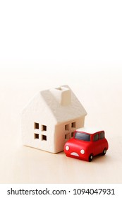 House and car image
