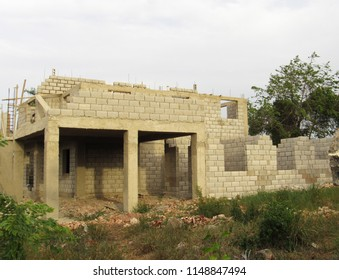 House in the Caribbean being constructed