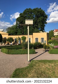 A house for a chained monkey in the old botanical garden at Uppsala designed by Carl Linnaeus in the eighteenth century
