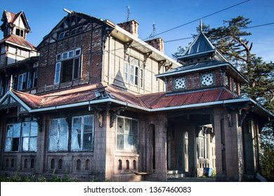 House (Charleville Mansion) in colonial style surrounded by old Himalayan cedars. English officer house is known as haunted house. Shimla - the former summer capital of former British India
