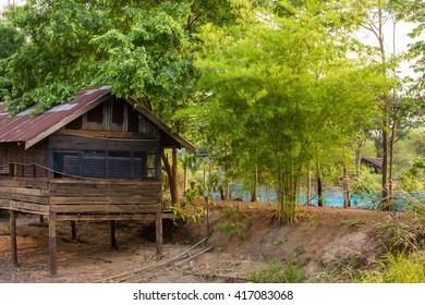 House for chicken in garden.