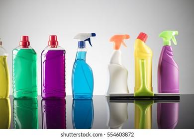 House cleaning products. House cleaning concept.