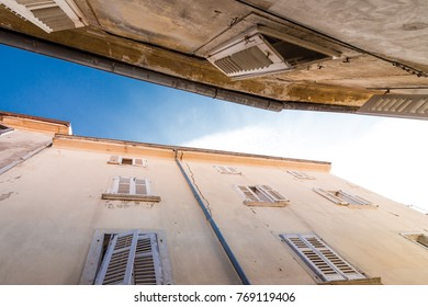 House in croatia with open shutters
