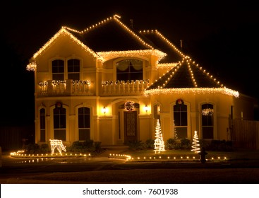 Christmas Lights House Images Stock Photos Vectors Shutterstock