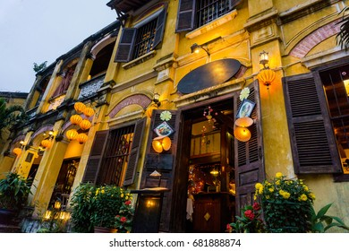 House was decorating lanterns in Hoi An old town Vietnam