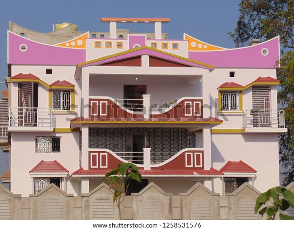 House Design Model 1 Front View Stock Photo Edit Now 1258531576