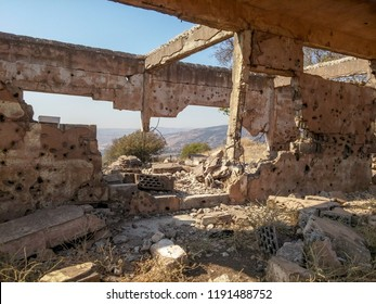 House destroyed by war. Golan Hights (Israel). September 2018