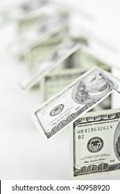 house from dollar cash closeup