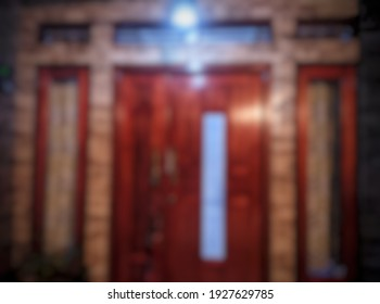 house door abstract background out of focus