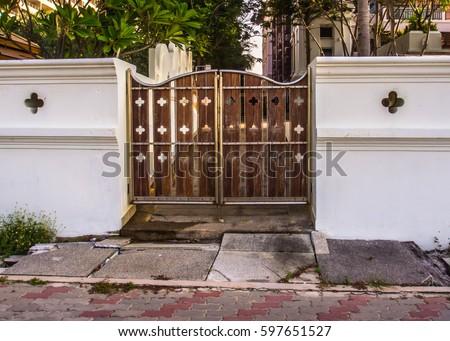 House Door Gate Design Stock Photo Edit Now 597651527 Shutterstock
