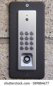 House entrance security keypad