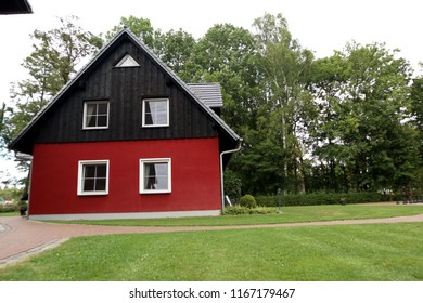 A house exterior in Burg (Spreewald), in  the former East Germany, just outside Berlin.