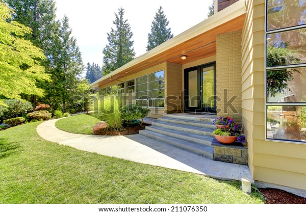 House Exterior Curb Appeal View Entrance Stock Photo Edit Now