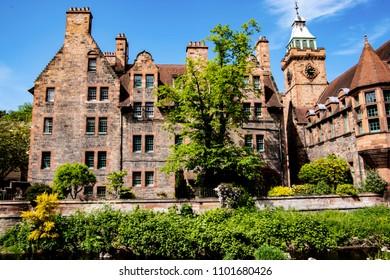 House exterior in Dean village (Edinburgh, Scotland, UK).