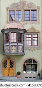 House facade in small town Stein am Rhein, Switzerland