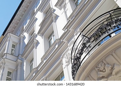 House facade with stucco in Munich