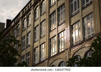 House facade in sunlight