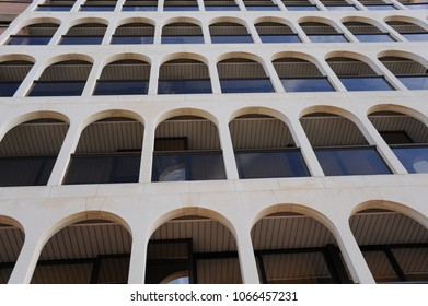 House facades, Lloret de Mar, Costa Brava, Spain