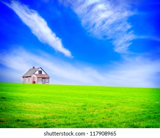 house in the field