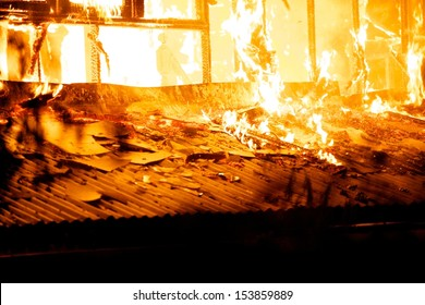 House fire in the hot weather.
