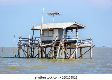 House for fishing on the water