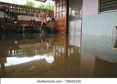 The house is flooded