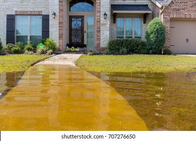 House flooded from Hurricane Harvey 2017
