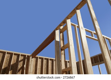 House framing with copy space