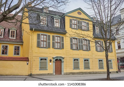 House of Friedrich Schiller in city of Weimar in Germany